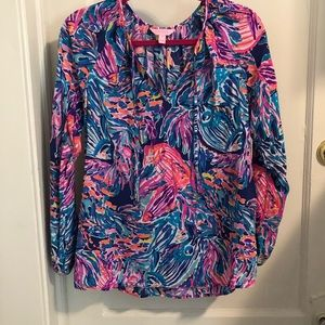 Lilly Pulitzer Long sleeve blouse